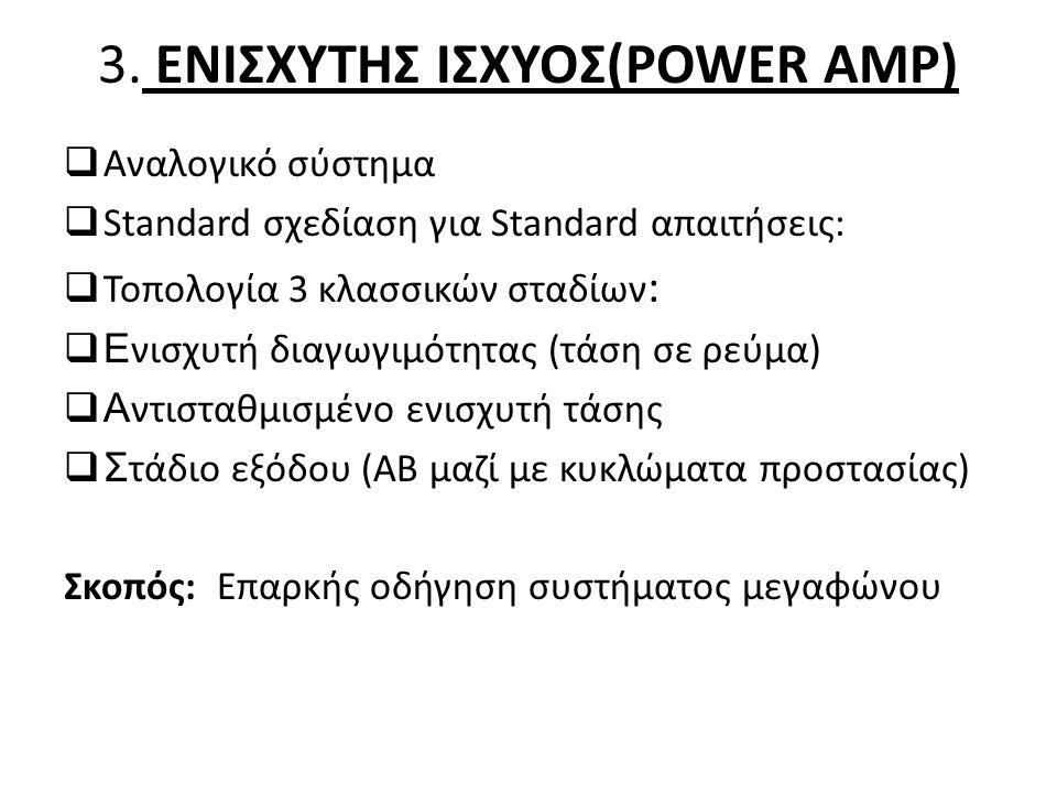 3. ΕΝΙΣΧΥΤΗΣ ΙΣΧΥΟΣ(POWER AMP)