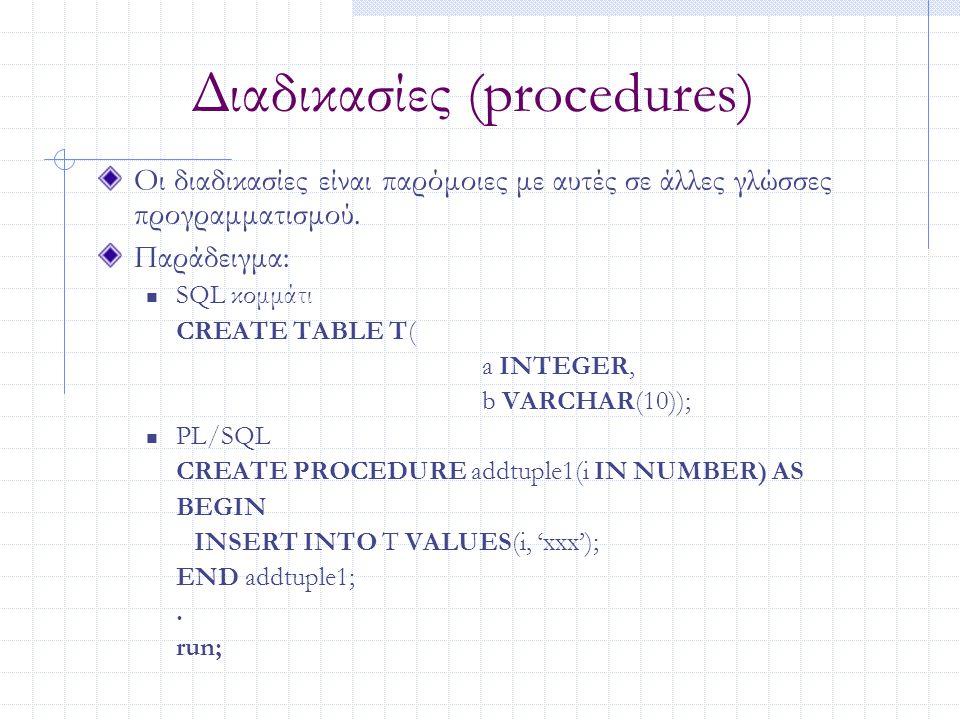 Διαδικασίες (procedures)
