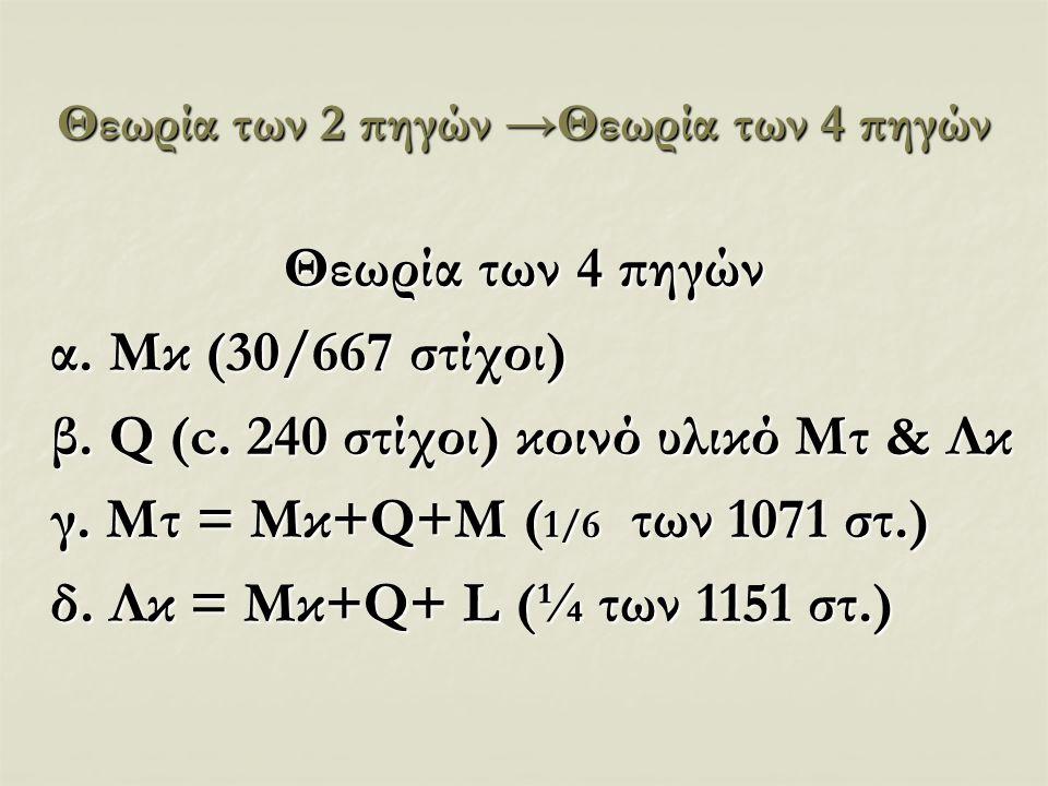 Θεωρία των 2 πηγών →Θεωρία των 4 πηγών
