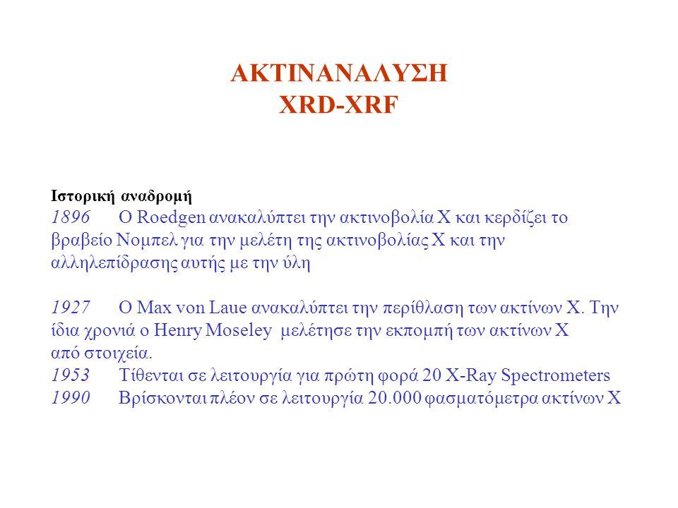 ΑΚΤΙΝΑΝΑΛΥΣΗ XRD-XRF Ιστορική αναδρομή.
