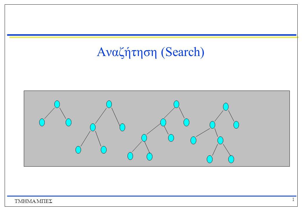 Αναζήτηση (Search) ΤΜΗΜΑ ΜΠΕΣ