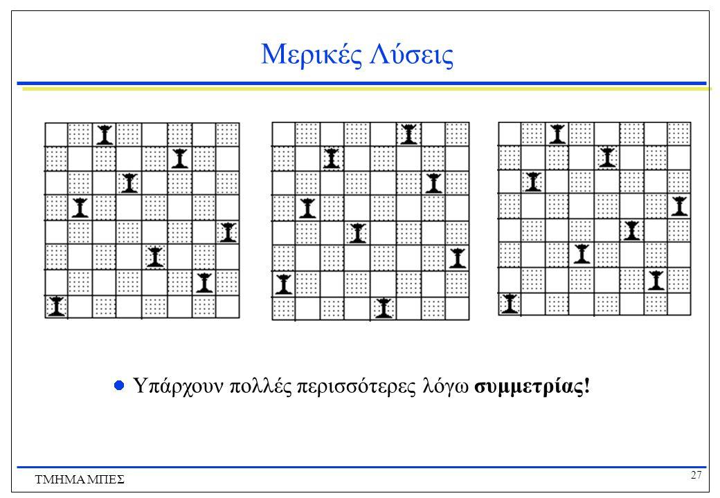 Μερικές Λύσεις Υπάρχουν πολλές περισσότερες λόγω συμμετρίας!