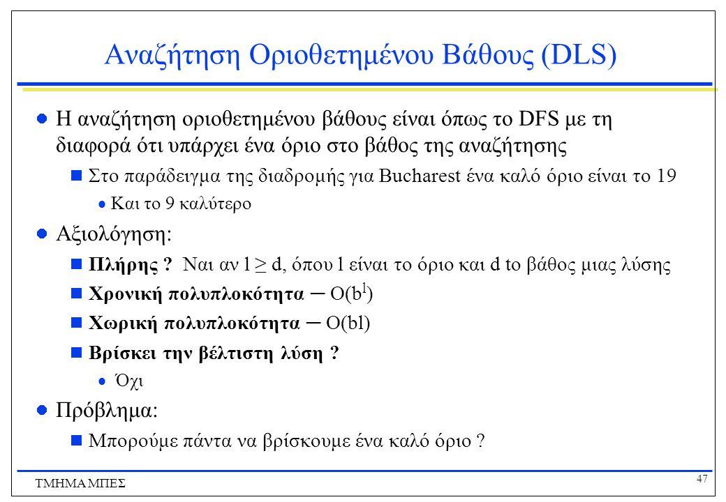 Αναζήτηση Οριοθετημένου Βάθους (DLS)