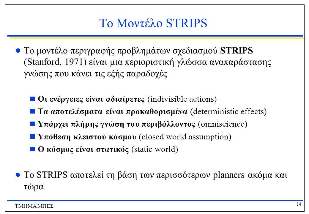 Το Μοντέλο STRIPS