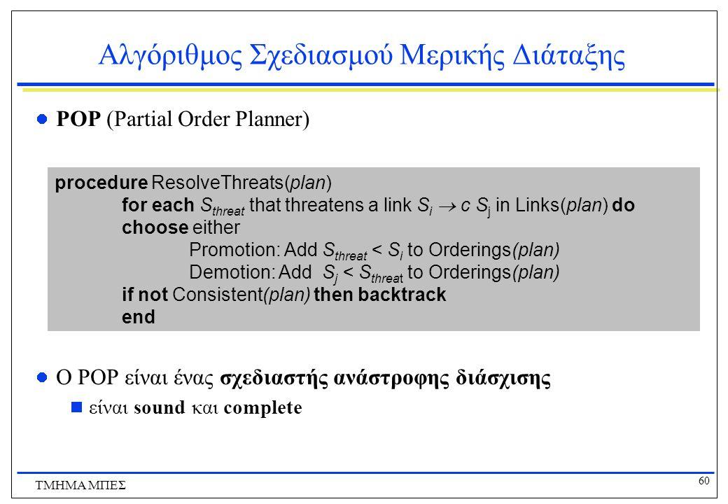 Αλγόριθμος Σχεδιασμού Μερικής Διάταξης