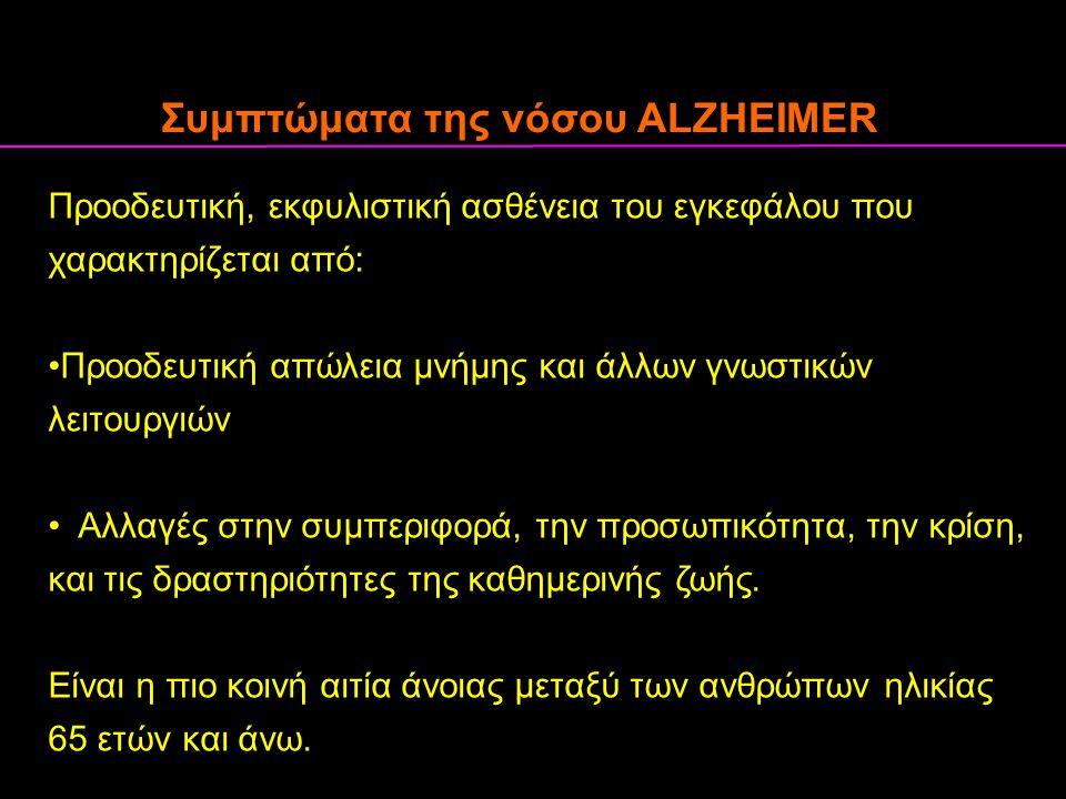 Συμπτώματα της νόσου ALZHEIMER