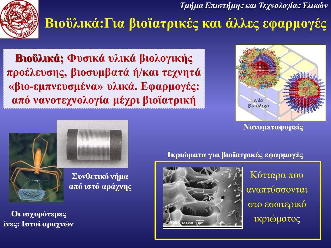 Βιοϋλικά:Για βιοϊατρικές και άλλες εφαρμογές