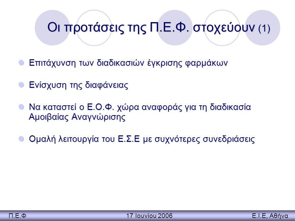 Οι προτάσεις της Π.Ε.Φ. στοχεύουν (1)