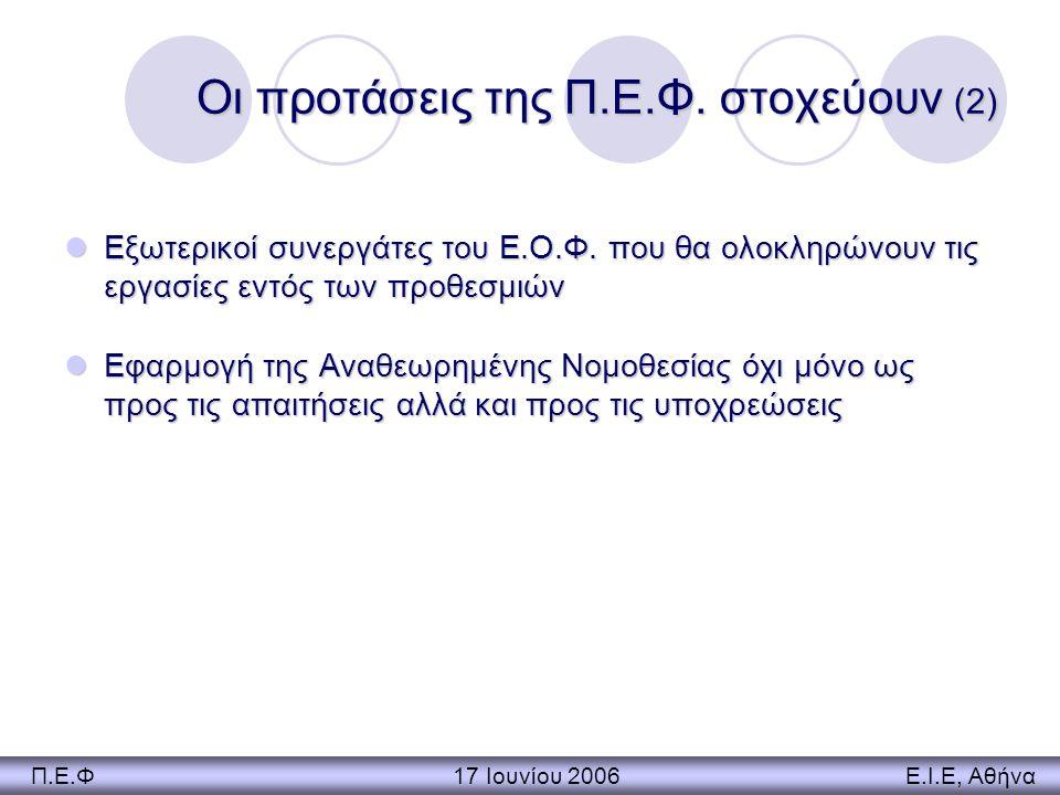 Οι προτάσεις της Π.Ε.Φ. στοχεύουν (2)
