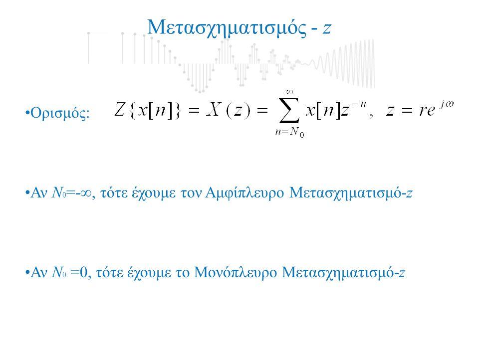 Μετασχηματισμός - z Ορισμός: