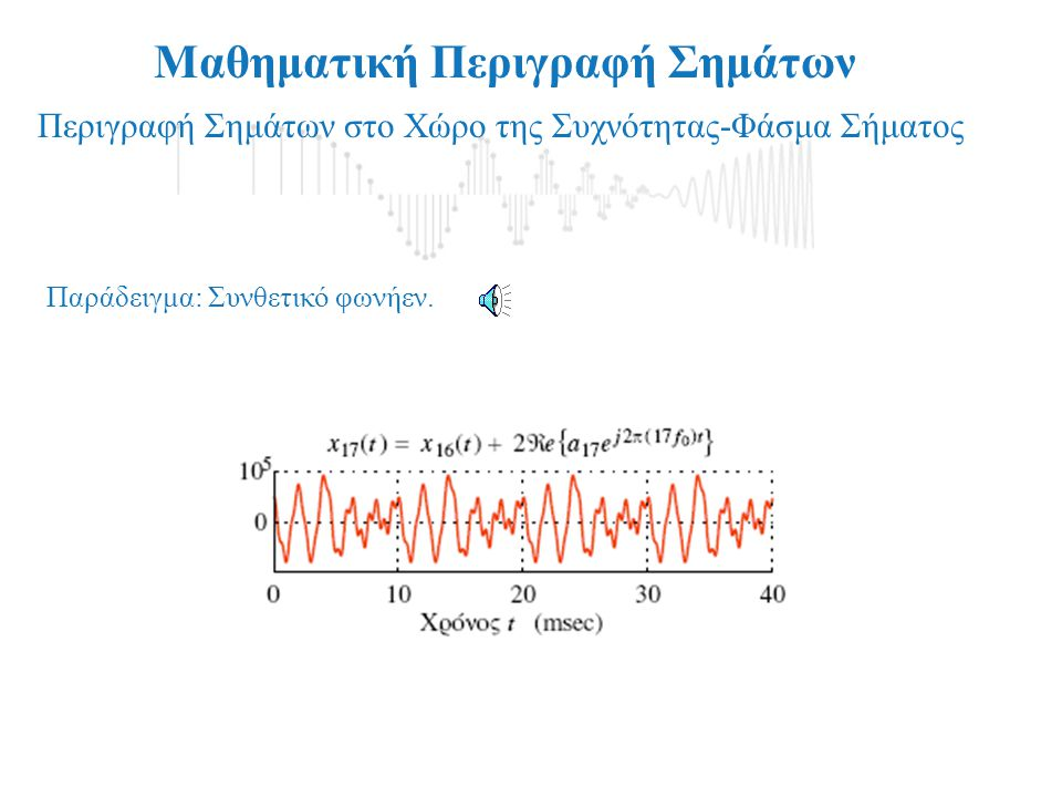 Μαθηματική Περιγραφή Σημάτων