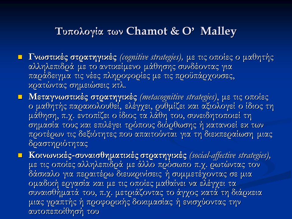 Τυπολογία των Chamot & O' Malley