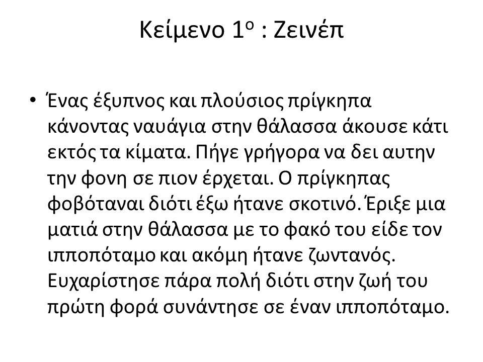 Κείμενο 1ο : Ζεινέπ