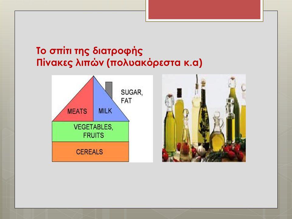 Το σπίτι της διατροφής Πίνακες λιπών (πολυακόρεστα κ.α)