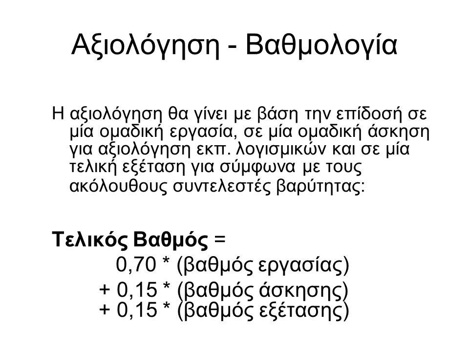 Αξιολόγηση - Βαθμολογία