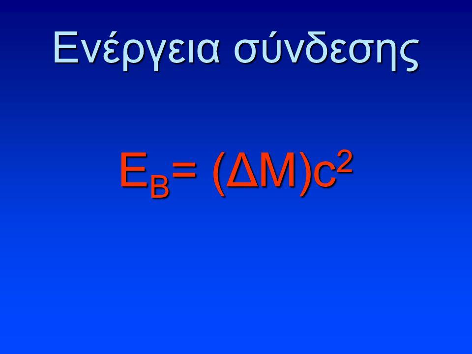Ενέργεια σύνδεσης ΕΒ= (ΔΜ)c2