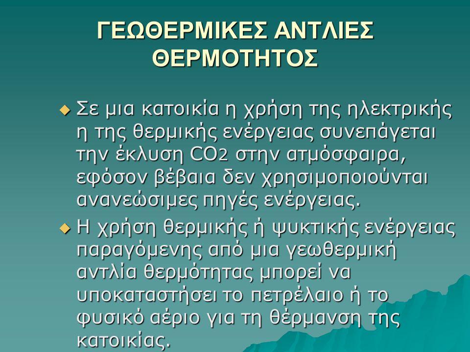 ΓΕΩΘΕΡΜΙΚΕΣ ΑΝΤΛΙΕΣ ΘΕΡΜΟΤΗΤΟΣ