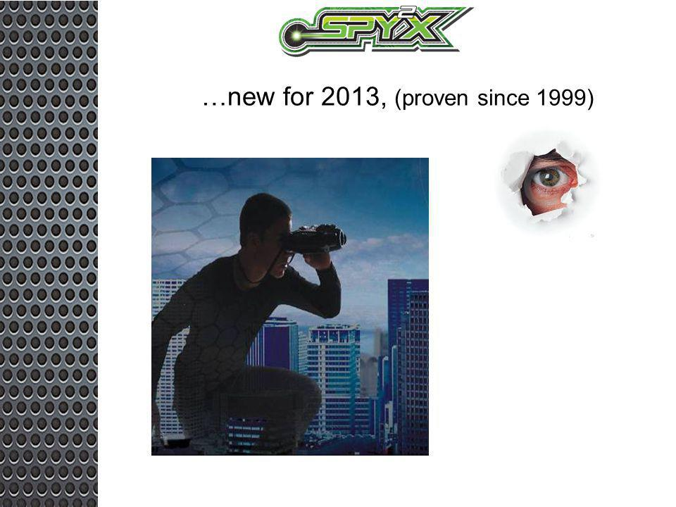 …new for 2013, (proven since 1999)