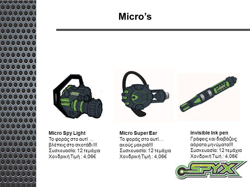 Micro's Micro Spy Light Το φοράς στο αυτί … βλέπεις στο σκοτάδι !!!