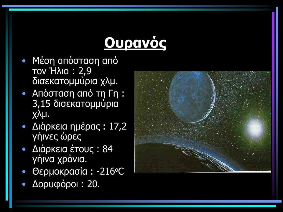 Ουρανός Μέση απόσταση από τον Ήλιο : 2,9 δισεκατομμύρια χλμ.