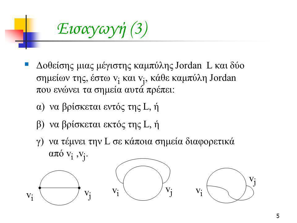 Εισαγωγή (3) Δοθείσης μιας μέγιστης καμπύλης Jordan L και δύο