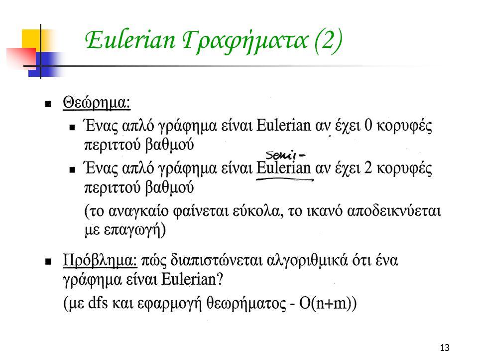 Eulerian Γραφήματα (2)