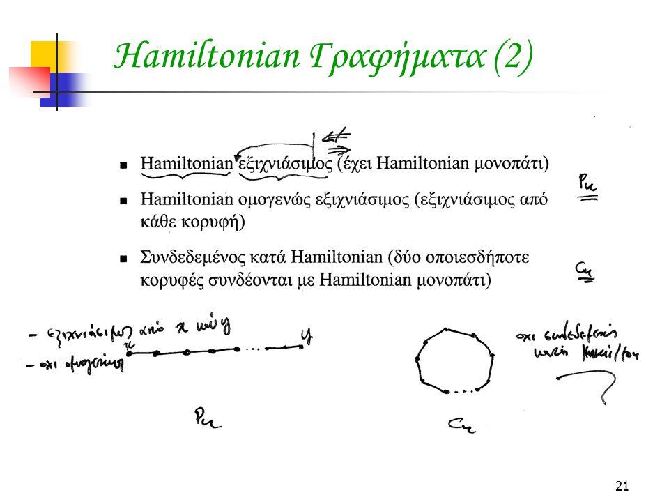 Hamiltonian Γραφήματα (2)