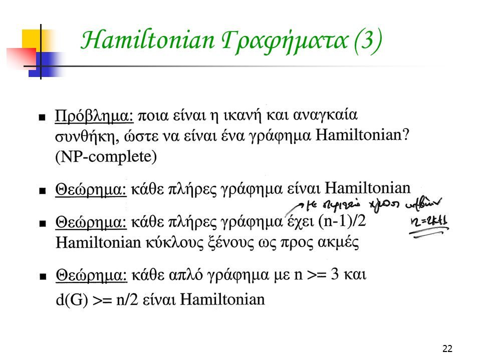 Hamiltonian Γραφήματα (3)