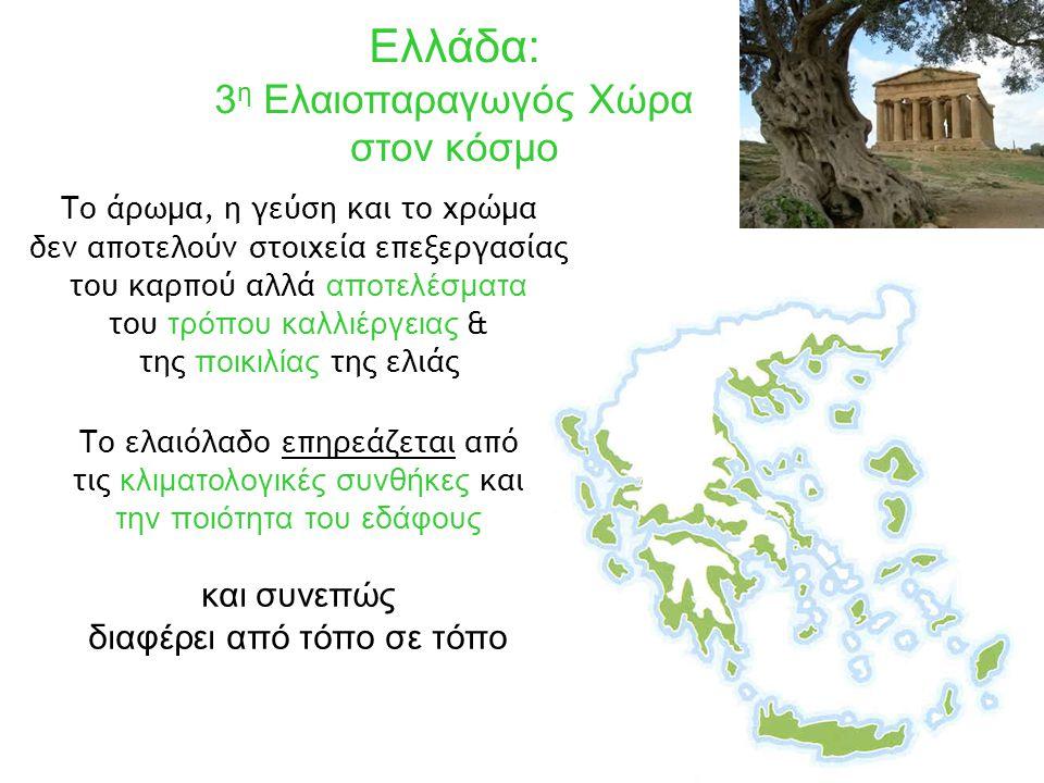 Ελλάδα: 3η Ελαιοπαραγωγός Χώρα στον κόσμο και συνεπώς