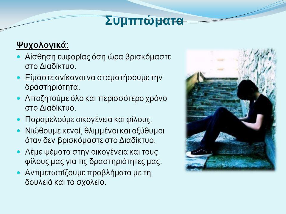 Συμπτώματα Ψυχολογικά: