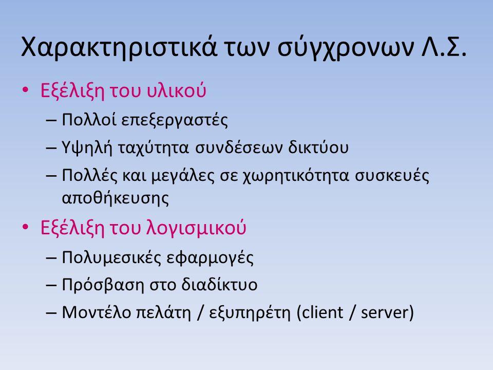 Χαρακτηριστικά των σύγχρονων Λ.Σ.