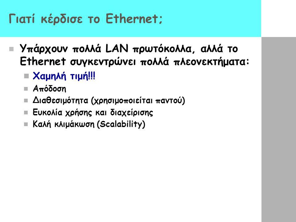 Γιατί κέρδισε το Ethernet;