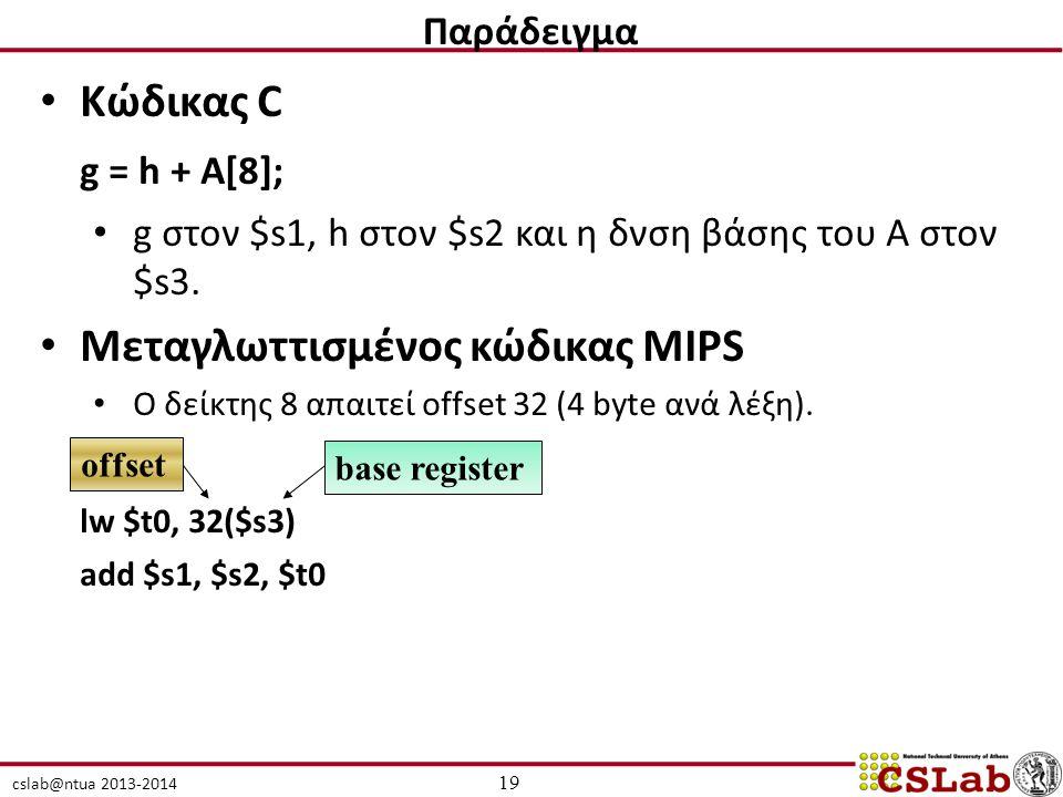 Μεταγλωττισμένος κώδικας MIPS