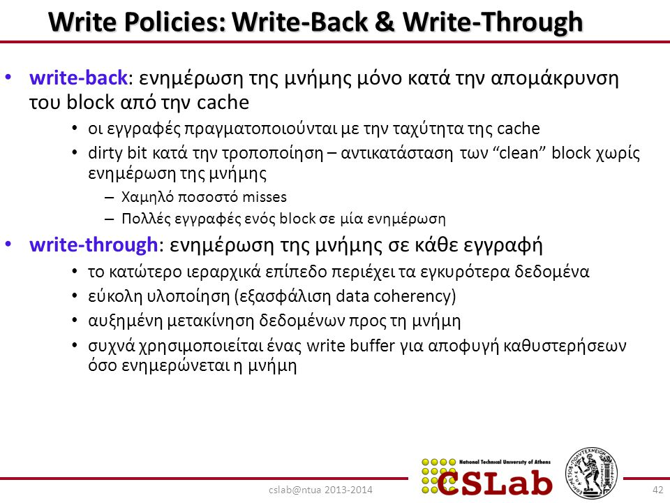 Write Policies: Write-Back & Write-Through