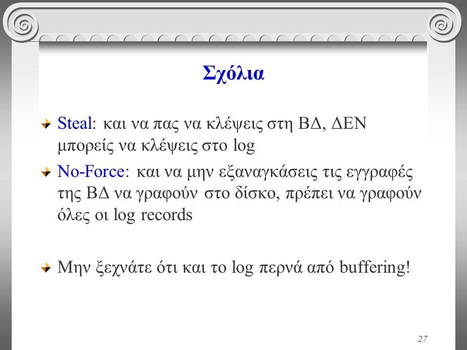 Σχόλια Steal: και να πας να κλέψεις στη ΒΔ, ΔΕΝ μπορείς να κλέψεις στο log.