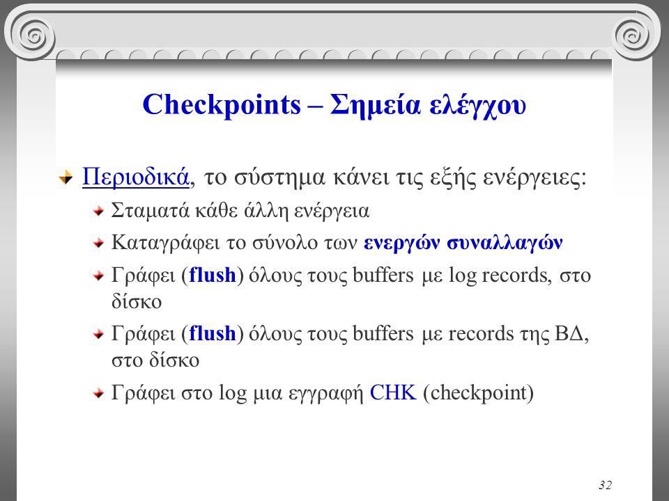 Checkpoints – Σημεία ελέγχου