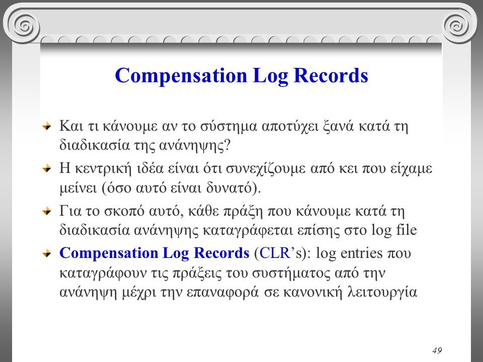 Compensation Log Records