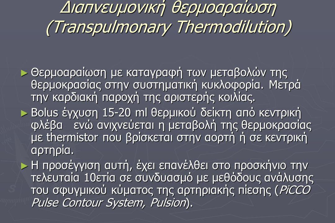 Διαπνευμονική θερμοαραίωση (Transpulmonary Thermodilution)