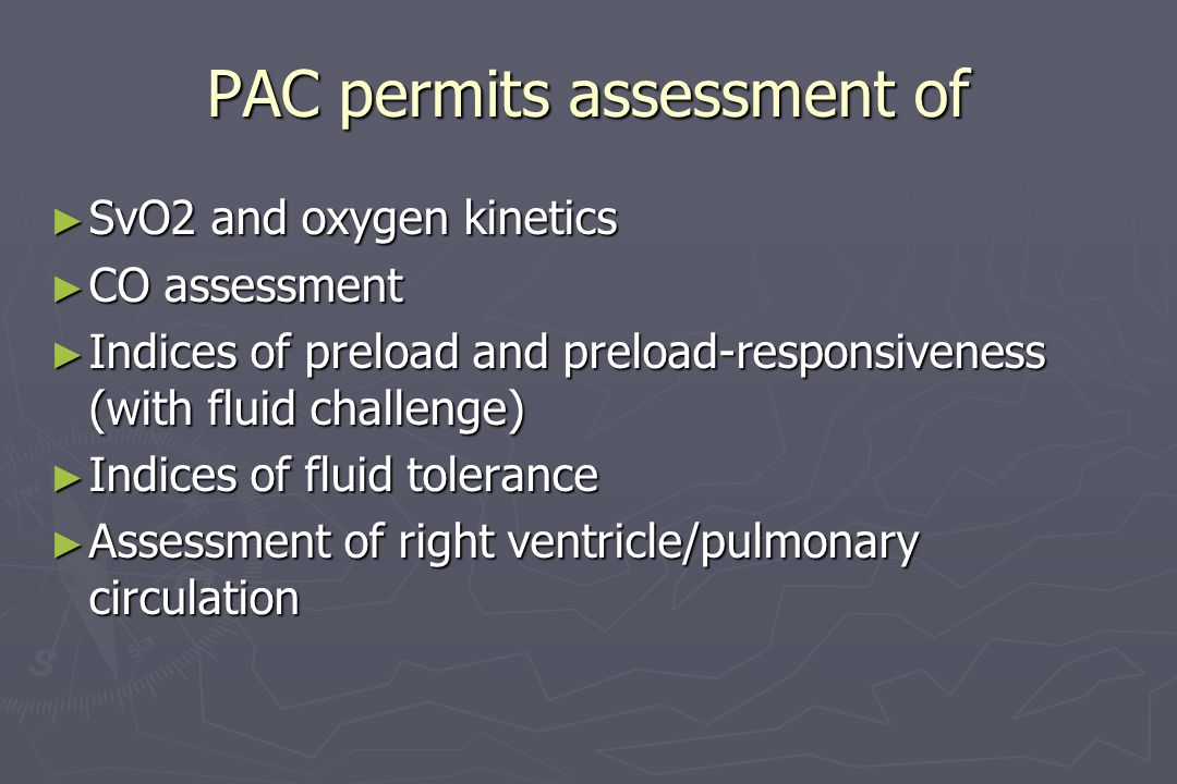 PAC permits assessment of