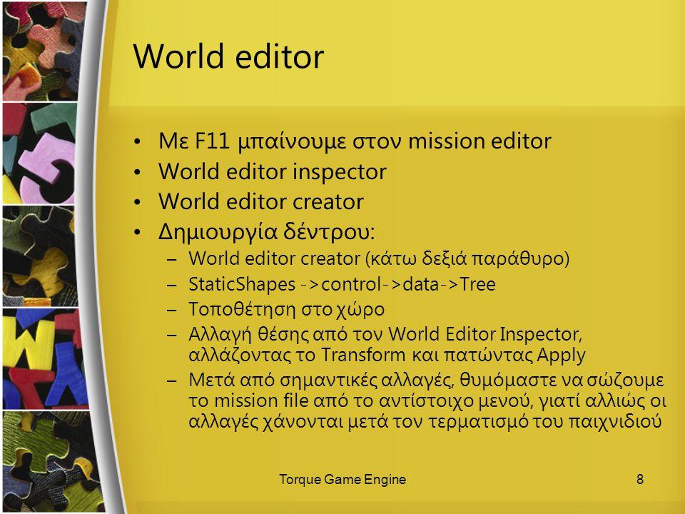 World editor Με F11 μπαίνουμε στον mission editor