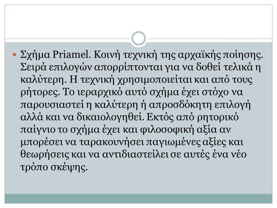 Σχήμα Priamel. Κοινή τεχνική της αρχαϊκής ποίησης