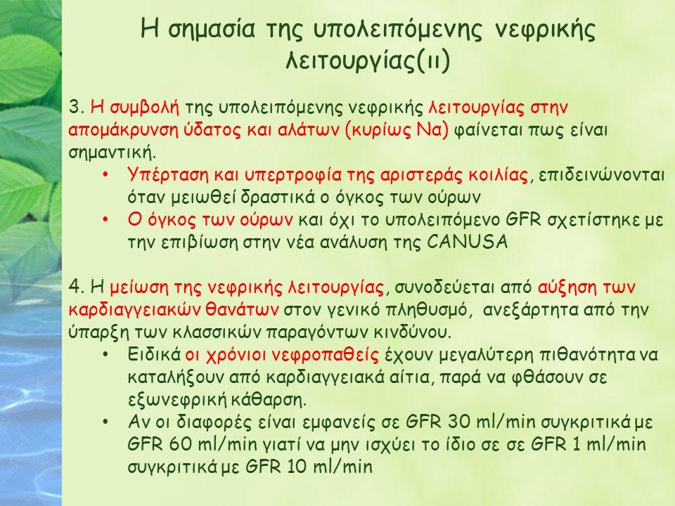 Η σημασία της υπολειπόμενης νεφρικής λειτουργίας(ιι)