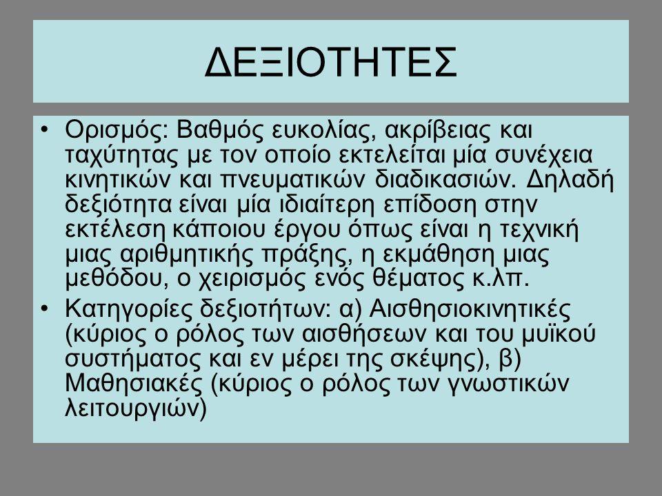 ΔΕΞΙΟΤΗΤΕΣ