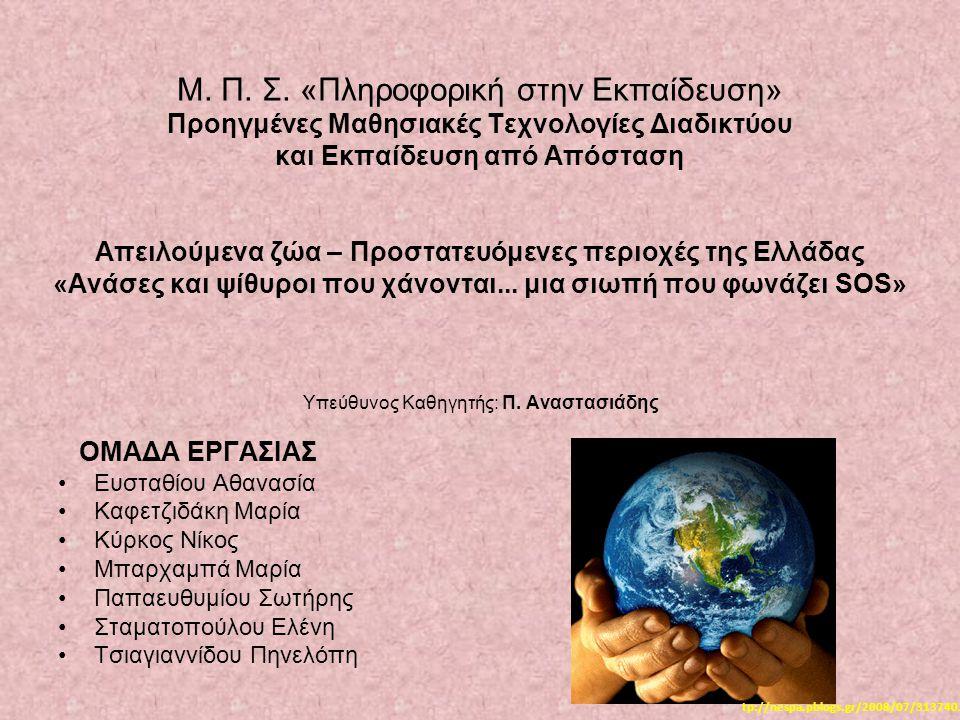 Υπεύθυνος Καθηγητής: Π. Αναστασιάδης