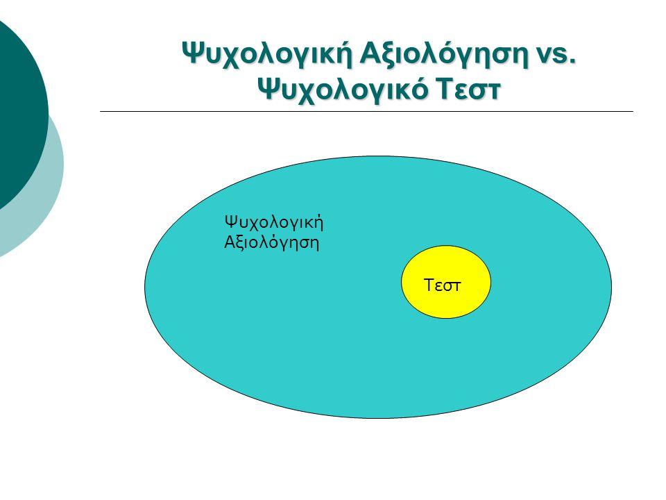 Ψυχολογική Αξιολόγηση vs. Ψυχολογικό Τεστ