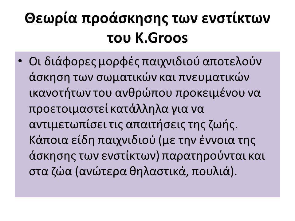 Θεωρία προάσκησης των ενστίκτων του K.Groos