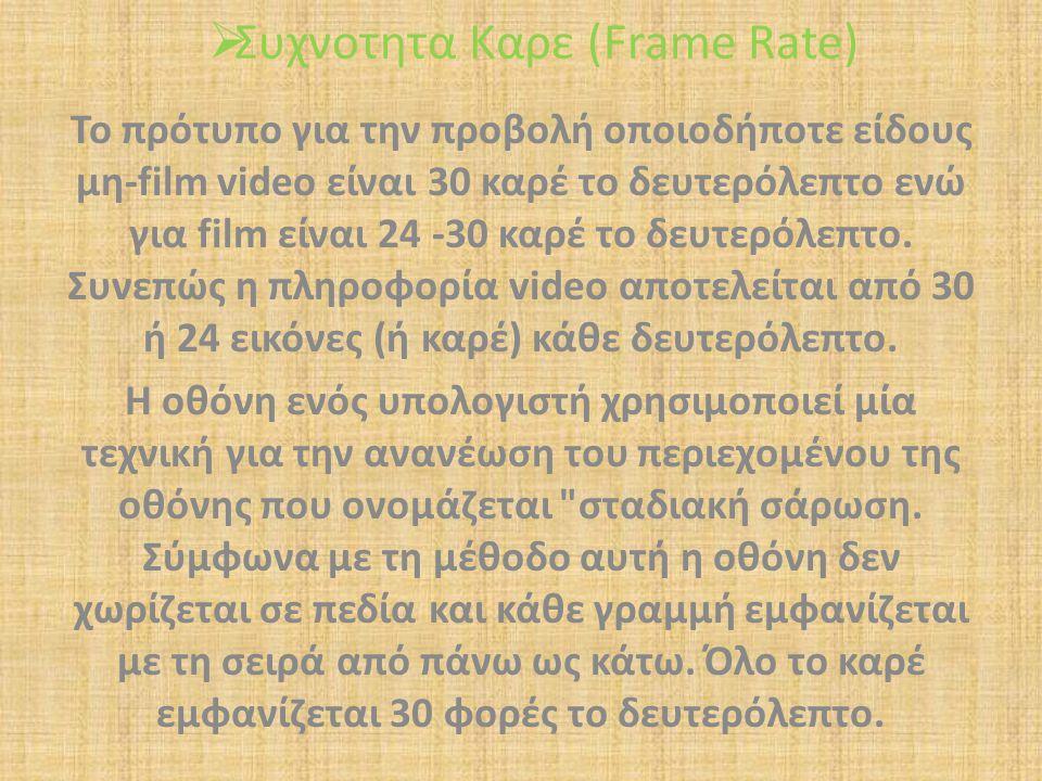 Συχνοτητα Καρε (Frame Rate)