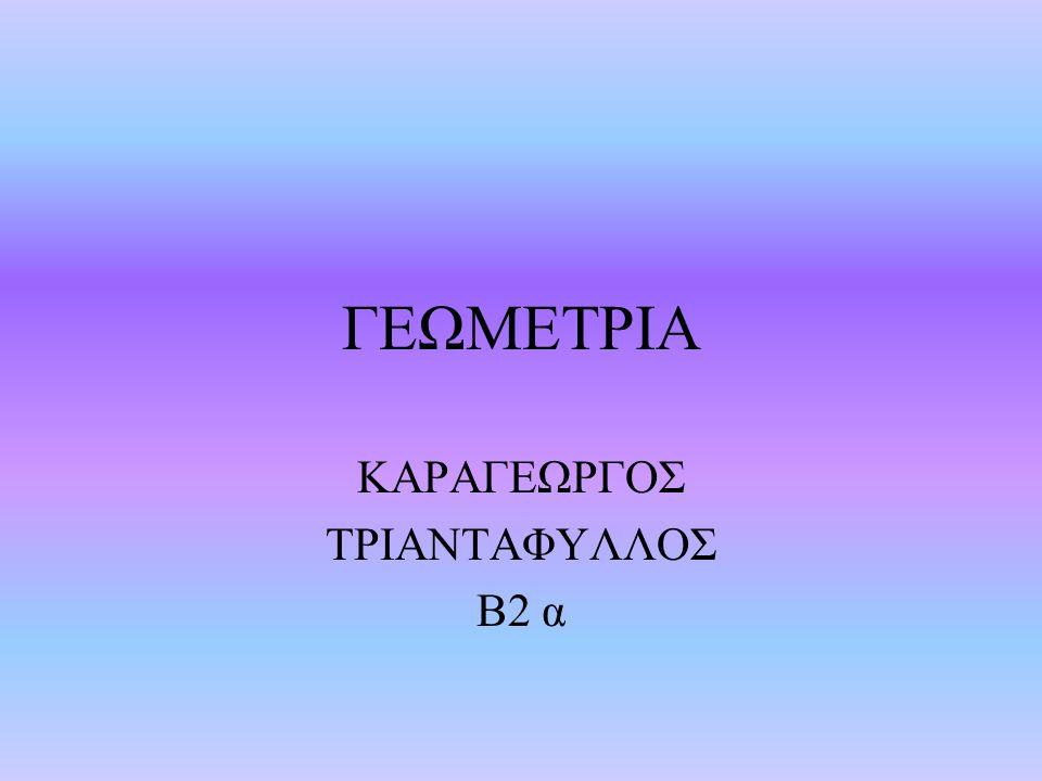 ΚΑΡΑΓΕΩΡΓΟΣ ΤΡΙΑΝΤΑΦΥΛΛΟΣ Β2 α