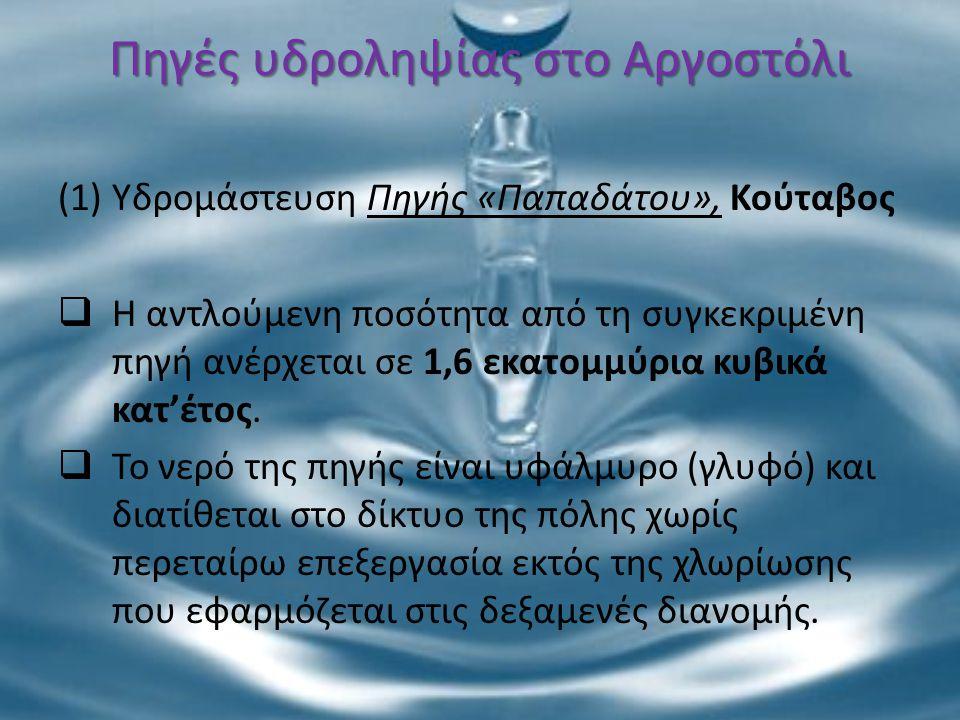 Πηγές υδροληψίας στο Αργοστόλι