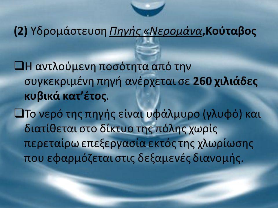 (2) Υδρομάστευση Πηγής «Νερομάνα,Κούταβος